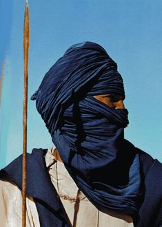 """The Color Indigo: Tuareg: In this Muslim tribe the men are veiled, not the women, because """"women have nothing to hide"""" (unlike the warlike men)."""