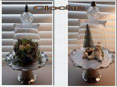 Garden cloche: Vintage beauty, under glass   Flea Market Gardening