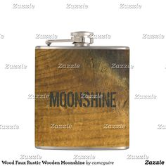 Shop Wood Faux Rustic Wooden Moonshine Flask created by camcguire. Holiday Cards, Christmas Cards, Customizable Gifts, Elephant Gifts, Business Supplies, Flask, Unique Gifts, Birthdays, Rustic
