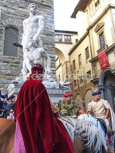 Cavalcade of the Magi, Florence, Italy Procession of characters that goes to Duomo, where bring up the offerings to the Christ Child on January 6 in Florence