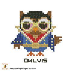 Hootie Owlvis Presley - PinoyStitch