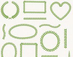laurel border on Etsy, a global handmade and vintage marketplace.