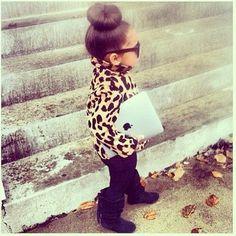 Mini fashionista!! She is super cute!!