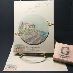 Stampin' Up! By the Bay, high tide Birthday Cards For Men, Animal Cards, Card Maker, Watercolor Cards, Sympathy Cards, Masculine Cards, Stamping Up, Greeting Cards Handmade, Stampin Up Cards