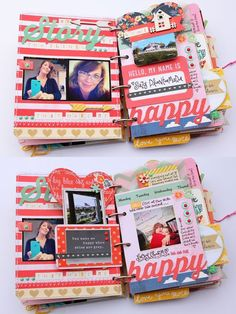 Fantastic minibook by Suzy Plantamura using Dear Lizzy - Lucky Charm 2013 collection