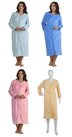 Ladies Slenderella Luxury Waffle Fleece Bed Jacket (Various Colours   Sizes)   3bc13b2f9
