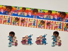2 Yards and 4 Resin's Doc McStuffins Inspired Grosgrain Ribbon and Resin's  #Unbranded