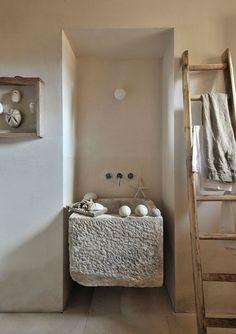 Salle de bain naturelle et rurale