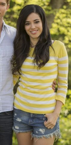 Valentina's yellow striped tee on Devious Maids.                                       $14.80