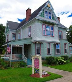 Queen Anne – Sherburne, NY – $258,500 | Old House Dreams Victorian Homes Exterior, Victorian Architecture, Architecture Design, Victorian Houses, Cute House, My House, Old Houses, Nice Houses, American Houses
