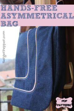 Serger Pepper - Hands-Free Asymmetrical Bag PDF pattern