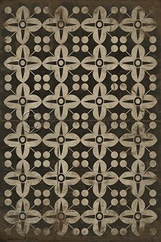 Pattern 3 There's no place like Home - Vintage Vinyl floor cloths by Spicher&Co.