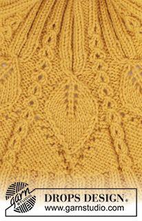 Ravelry: Hello Sunshine Wrist Warmers pattern by DROPS design Sweater Knitting Patterns, Knitting Charts, Lace Knitting, Knitting Designs, Knitting Stitches, Drops Design, Knitting For Charity, Drops Patterns, Wrist Warmers