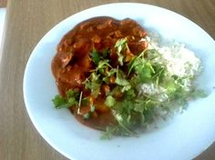 Panang Curry with light Coconut milk, Red Curry and fresh Dhania  20/01/2014