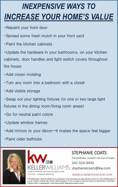Home Improvement Tips For The Everyday Homeowner. Each homeowner is interested in making improvements to his or her home. This article has a lot of tips that can help you. Basement Remodel Diy, Garage Remodel, Basement Remodeling, Remodeling Ideas, Bathroom Remodeling, Kitchen Remodel, Home Selling Tips, Selling Your House, Home Buying Tips