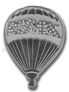 """1 1/2"""" Silver Balloon with Zirconia RE/MAX"""