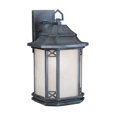 Livex 2313-61 Tahoe 1 Light 17 inch Charcoal Outdoor Wall Lantern in Antique White Linen