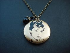 Audrey Hepburn  Holly Golightly in Breakfast at by KeoniDesign, $35.00- I am buying this!