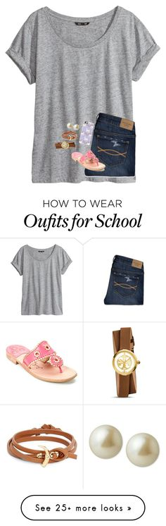 """""""So sick of school//Ava"""" by preppy-group-account on Polyvore featuring H&M, Abercrombie & Fitch, Casetify, Jack Rogers, Carolee and Tory Burch"""