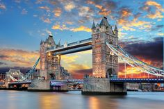 Most, Tower Bridge, Tamiza, Londyn