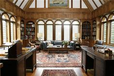Stately 30,000 square foot English Tudor manor home overlooking the James River is carefully situated on 56+ Acres and nestled among rolling lawns and English gardens. Quality detailed construction…