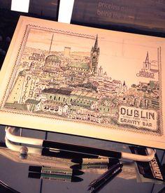 Visit Dublin - Timelapse by Steve Simpson, via Behance Guinness Storehouse, Visit Dublin, Drawing Techniques, Old World, Illustrators, Vintage World Maps, Challenges, The Incredibles, Day