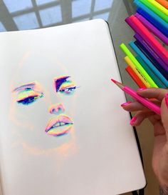 "11 k gilla-markeringar, 75 kommentarer - Charmaine Olivia (@charmaineolivia) på Instagram: ""Bright ✨ using @prismacolor colored pencils & @marvyuchida Le Pen pens """