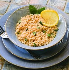 Recipe for Italian Chicken and Lemon Basil Brown Rice