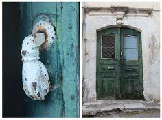 Ancient doors. Crete, Greece.