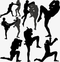 бороться,кикбоксинг,спорт,Санда,ушу,силуэт,черно - белый силуэт