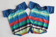 newborn boy romper with pocket (Felix) - photography prop - onesie, blue, navy, red, aqua, multi color, rainbow by adorableprops on Etsy