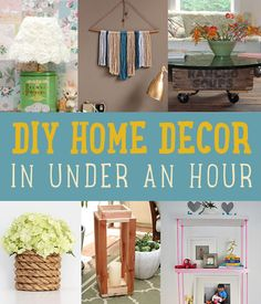 Easy DIY Home Decor In Under an Hour by DIY Projects at  https://diyprojects.com/diy-home-decor-under-an-hour/