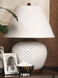 Pierced Porcelain Table Lamp - Lauren Home Table Lamps