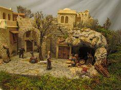 Diorama de Navidad Christmas Nativity Scene, Nativity Crafts, Christmas Crib Ideas, Natal Diy, Diy And Crafts, Arts And Crafts, Stone Texture, Inspired Homes, Cribs