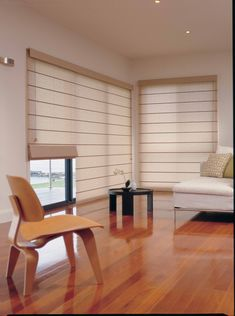 Roman Shades - Roman blinds with a contemporary look and feel.
