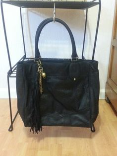 Juicy Couture Gossip Girl Leather Tote in Black.