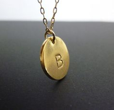 gold initial necklacegold initial disc necklacegold by MomentusNY, $40.00
