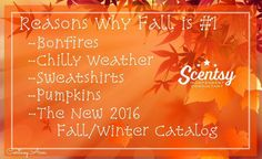 Okay friends! I'm sending out the new Scentsy catalog! Please Private me your address and your favorite fall activity! 🍂🎃🍎🏈 #fall #scentsy