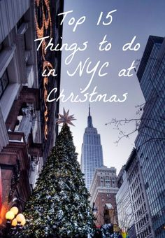 IMAGE VIA Tis the season! As the holidays creep upon us, I'm getting more and more excited. There is so much I want to do, and only a couple more weeks left to do it. Christmas in NYC is probably my favorite time of the year. Before I lived here, my parents and I would plan an annual Christ