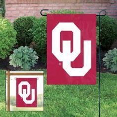 Oklahoma OU Sooners Applique Embroidered Mini-Window Or Yard/Garden Flag