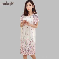 2016 Livraison Gratuite Femme Printemps Été Coton Plus La taille de chemise de Nuit Fille Doux Sleepshirts vêtements de Nuit des Femmes Chemise de Nuit Q934