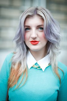 Faded pastel ombre.