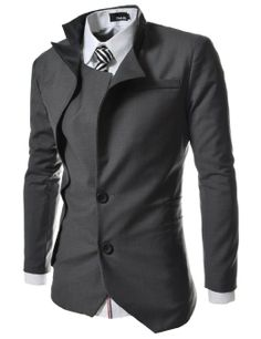 Amazon.com  TheLees Mens unbalance 2 button china collar jacket  Clothing  Gents Fashion f1520046634