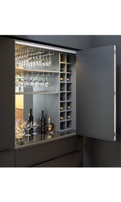 Anyone who loves alcohol will love this cupboard! Alcohol Cabinet, Liquor Cabinet, Small Room Bedroom, Small Rooms, Bedroom Ideas, Alcohol Storage, Home Cocktail Bar, Alcohol Bar, System Furniture