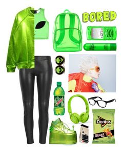 """""""Peridot - Steven Universe"""" by to-many-stars ❤ liked on Polyvore featuring O-Mighty, MuuBaa, Y.R.U., Beats by Dr. Dre, Ray-Ban and Bed Head by TIGI"""