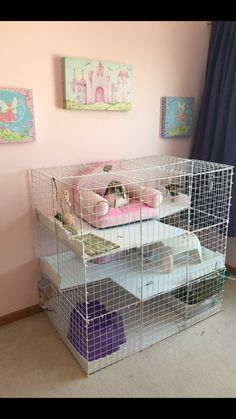39 This DIY Dog Crate Furniture Piece Will Transform Your Living Room ~ Home Design Ideas Indoor Rabbit Cage, Rabbit Cages, Rabbit Toys, Pet Rabbit, Rabbit Cage Diy, Rabbit Hutch Indoor, Diy Bunny Cage, Diy Guinea Pig Cage, Guinea Pigs
