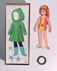T673 Vintage Tutti Barbie and Skippers Tiny Sister Paper Doll by Mattel 1967 | eBay