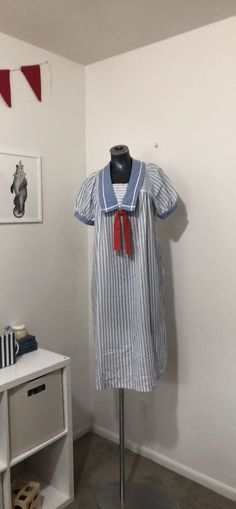 25285b5c7bf79 Vintage Maternity Dress 1960s Sailor Nautical Pregnancy Baby Shower Sz 10  #fashion #clothing #shoes #accessories #womensclothing #maternity (ebay  link)