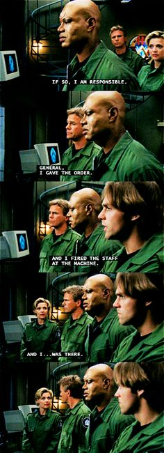 "Stargate SG-1 version of ""I am Spartacus! """