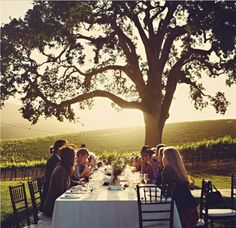 Family dinners are the best. Love when we can all get together and do this. All we need now, is the view like this one!